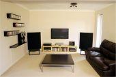 Plasma Screen In Modern Lounge