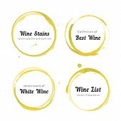 Постер, плакат: White Wine stain circles