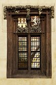 Windows With Prague City Crest