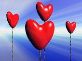 Valentine Heart Balloons.
