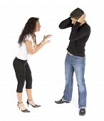 Couple'S Quarrel  - Woman Crying; Man Stops Ears