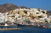 Port on the island of Naxos. Greece