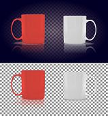 Постер, плакат: Set of Cup or Mug White and Red