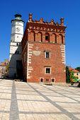 Sandomierz - May 11: Old town hall in Sandomierz, Poland. The town hall was build in the XIV century and the tower was build in the XVII century on May 11, 2011 in Sandomierz, Poland.