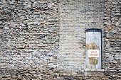 Valet Parking Sign On Old Wooden Door