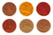 stock photo of garam masala  - collection of indian spices  - JPG