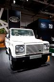 Moscow, Russia - August 25:  White Jeep Car Land Rover  At Moscow International Exhibition Interauto