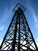 stock photo of oil well  - an oil well structure - JPG
