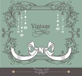 card cover design- romantic card- vintage card- baby shower