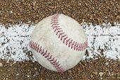 Um velho beisebol gasta