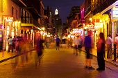 New Orleans, Bourbon Street At Night, Skyline Photography