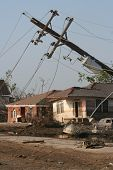 stock photo of katrina  - this photo was taken near the 17th street canal levee breach in lakeview following hurricane katrina in new orleans - JPG