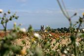 Reculver Towers In Kent From Afar