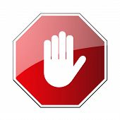 Stop Traffic Road Sign poster