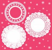 Set for round lace doily
