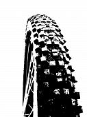 stock photo of dirt-bike  - Mountain bike offroad tire wheel - JPG