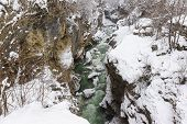 The Steep Slopes Of The Canyon - The Gorge Of The Mountain Cold Of The Belaya River In The Republic poster