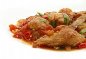 chicken tomato spicy poster