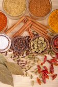 image of garam masala  - gorgeous setting with cooking spices and herbs  - JPG