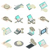 Compose Icons Set. Isometric Set Of 16 Compose Vector Icons For Web Isolated On White Background poster