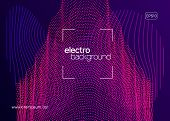 Club Flyer. Commercial Discotheque Banner Layout. Dynamic Fluid Shape And Line. Neon Club Flyer. Ele poster