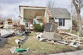 HENRYVILLE, IN - MARCH 4: Aftermath of category 4 tornado that touched down in town on March 2, 2012