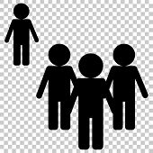 Vector Image Of A Crowd Of People And One Person Standing Aside. A Person Different From Others In B poster
