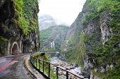 Amazing View Of Taroko Gorge In Taroko National Park, Taiwan. Taiwanese Landscape. Steep Rocks Along poster