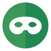 Mask Icon Isolated On White Background. Anonymous Mask Icon In Trendy Design Style. Anonymous  Mask  poster