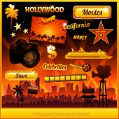 Hollywood cinema movie elements collection
