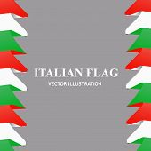 Bright Illustration With Italian Flag. Happy Italy Day Background. Background With Flag Of Italy. Ve poster