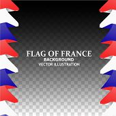 Banner Illustration With Flag. Bright Background With Flag Of France. Happy France Day Background. B poster