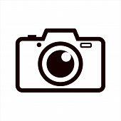 Photo Pamera Icon On White Background, Photo Camera Icon Eps10, Photo Camera Icon Vector, Photo Came poster