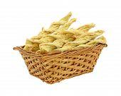 Постер, плакат: Витой чеснок и сыр закуски Корзина