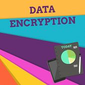 Handwriting Text Data Encryption. Concept Meaning Symmetrickey Algorithm For The Encrypting Electron poster