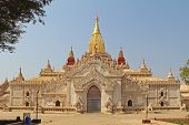 Ananda Temple In Old Bagan, A Large Buddhist Temple, One Of Bagans Best Known Temples. One Of The M poster