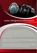 Vector Red Background with digital camera