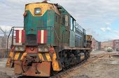 The old Soviet shunting locomotive