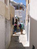 Santorini Tourists poster