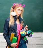 Creative Style. Self Expression And Fashion. Fancy Schoolgirl. School Fashion. Creative Teen. Fashio poster