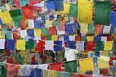 Buddhist Tibetn Flags For Background