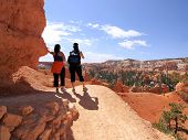 Hikers In Bryce Canyon