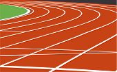 foto of track field  - Vector illustration of a track used in athletics events - JPG