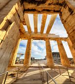 Temple Of Athena Propylaea Ancient Entrance Gateway Ruins Acropolis Athens - Greece, Nobody poster