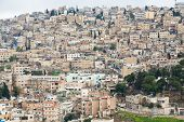 picture of amman  - panorama of old town Amman in Jordan - JPG