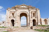 Arch Of Hadrian In Antique City Of Gerasa Jerash In Jordan