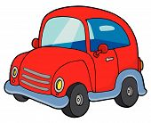 foto of beetle car  - Cute small red car on white background  - JPG