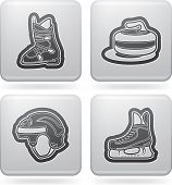 foto of ski boots  - All things (objects) which are related to a winter time. Pictured here left to right top to bottom: 