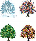 Four seasons �?�¢?? trees in spring, summer, autumn, winter