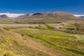 Mountain Route From Brunastadir Village To Olafsfjordur Town. Iceland.